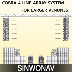 COBRA-4 LINE-ARRAY SYSTEM FOR LARGER VENUNES